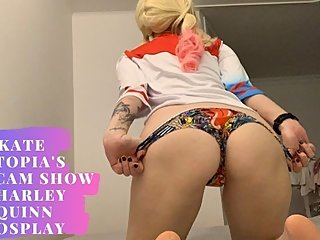Kate Utopia's Webcam Show - Harley Quinn Cosplay