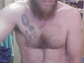 Fucking hot igrbearded stud licks and drool on cam str8