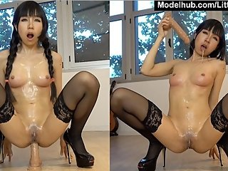 Super Sloppy Facefuck and Anal for Cute Asian GF - 4K