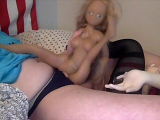 fucking my two tiny teens mini sexdoll age play small tits