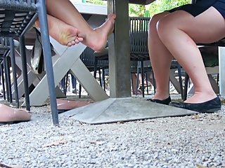 Yellow Filthy Girly Soles In The Air - Pantent Flats On The Ground