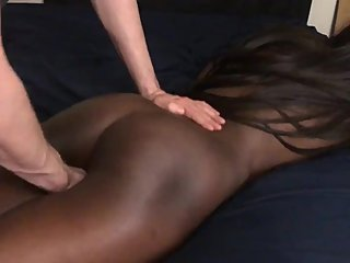 Black Teen Wants Massage But Gets Finger Fucked