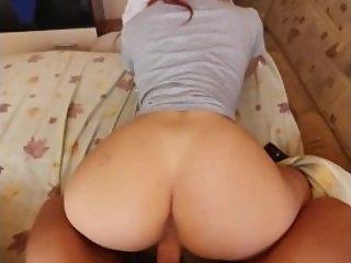 Redhead getting fucked from behind