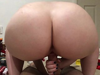 BLONDE COLLEGE TEEN PAWG BABYSITTER RIDES DADDY IN PLAYROOM