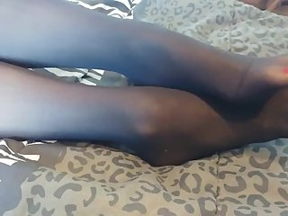 Stockings on my size 7 feet