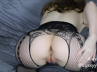 Slut in training spreads and fingers herself