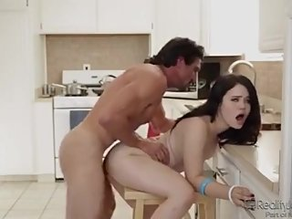 Mommy Catches CreamPie for Daddys Little Girl