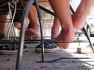Two Private Barefoot Meeting Girls In The Shadow 3
