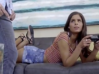 Naughty girl made her new roommate cum 3 times