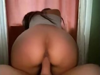 Roommates asian girlfriend sneaks into my room to ride my dick
