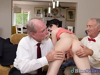 Randy Old Pensioners Rejuvenated By Hot Young Teen Pussy