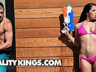 Reality Kings - Fit bubble butt Alex Coal gets fucked in the pool