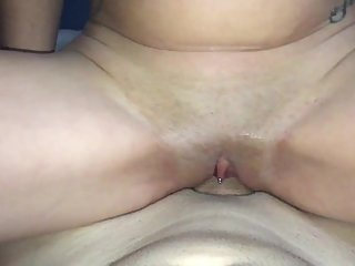 My sisters friend comes on her period early by big cock