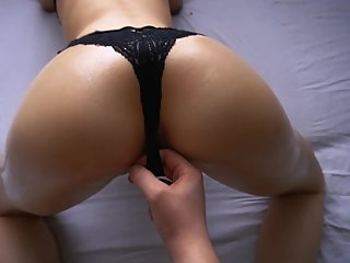 Fucked neighbor with an oiled ass