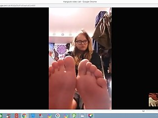 Pervert Foot Creeper Enjoys Young Teen Soles On Webcam 18