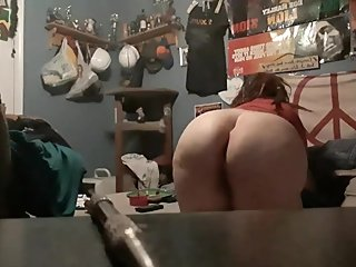BBW makes her big ass bounce and shows off her thick young body