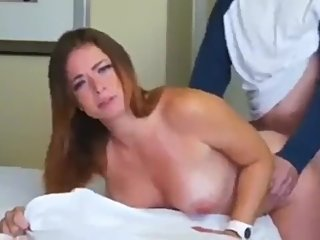 Cheating fuck while phone talking. Naughty babe