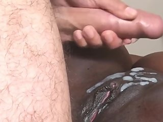 Cum on black pussy compilation