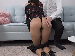 Clumsy Secretary Gets Fucked By Her Boss - Custom Video