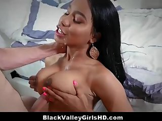 Privileged Black Babe Craves A Big White Cock Behind Daddy's Back