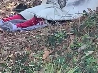 Teens caught fucking in woods